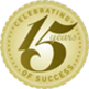Celebrating 15 Years of Success logo