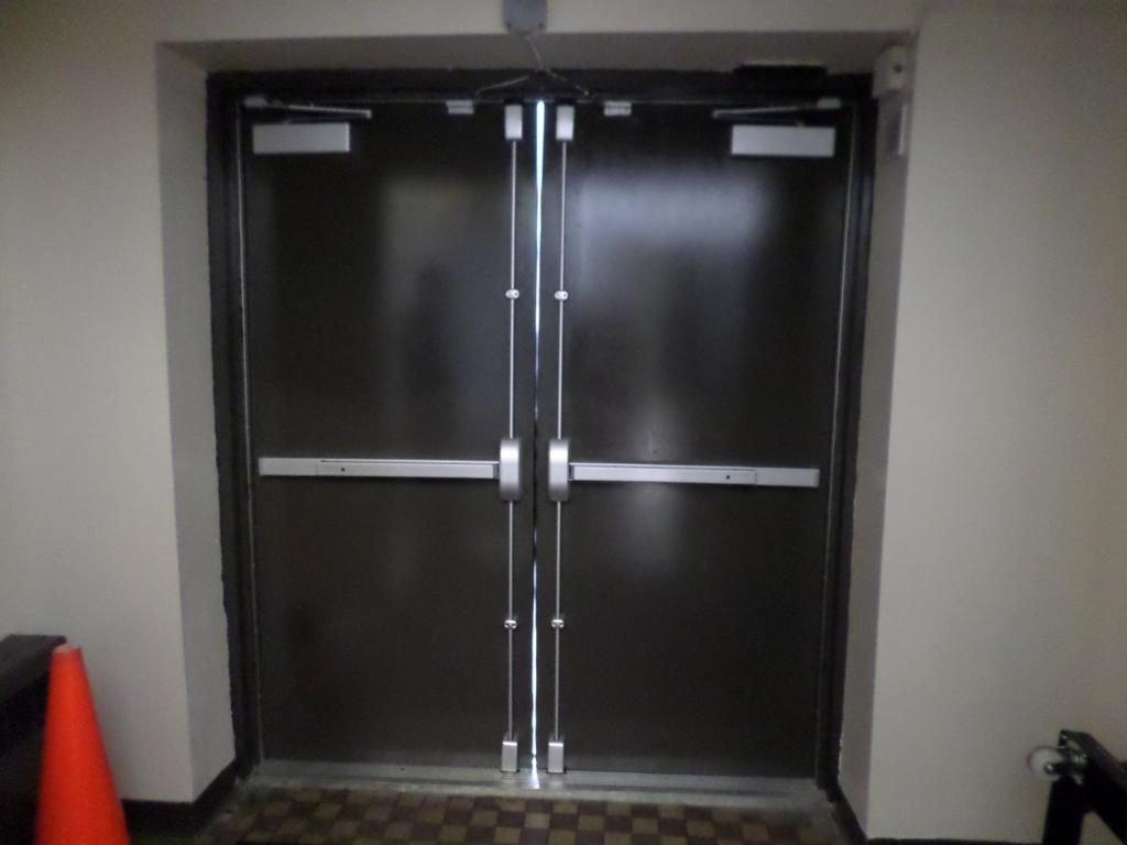 Hollow metal double doors parker custom security