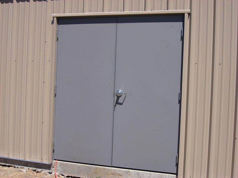 Hollow metal double doors parker custom security - Commercial aluminum exterior doors ...