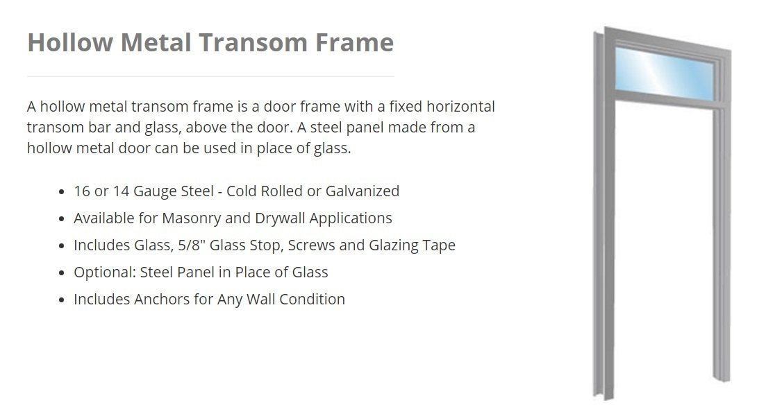 Hollow Metal Frames - Parker Custom Security