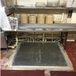 Diamond Plate Cellar Door